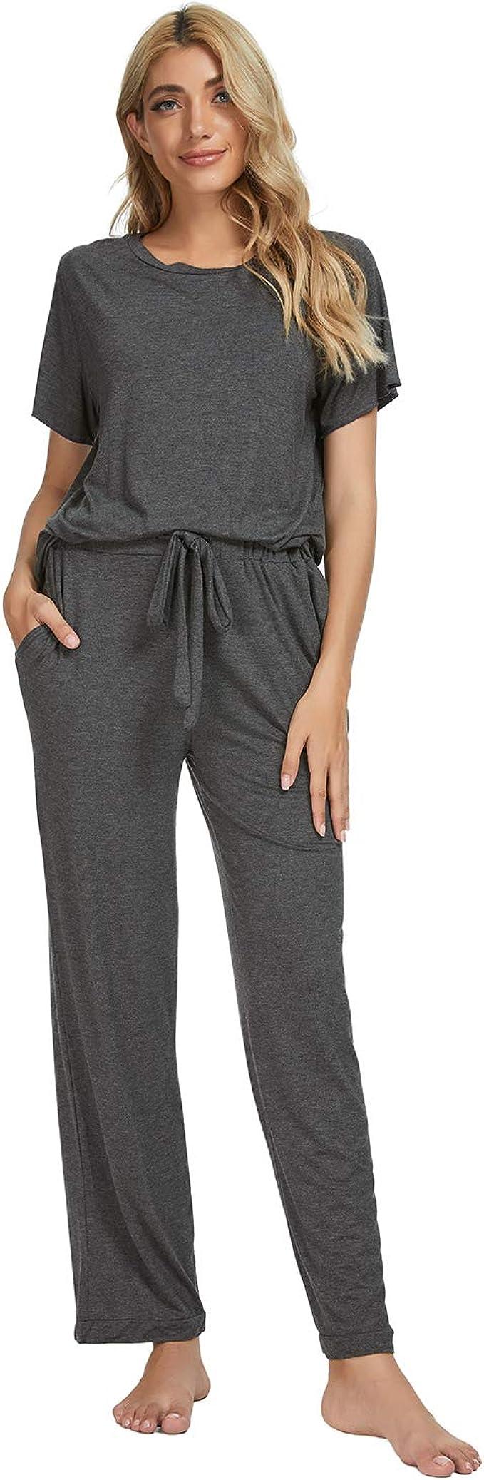 Goso Pijamas Mujer Pijamas De Mujer Ropa De Domir Manga Pantalon Sueltos Largos Estilo Jogging Conjuntos De Salon Suave Amazon Es Ropa Y Accesorios