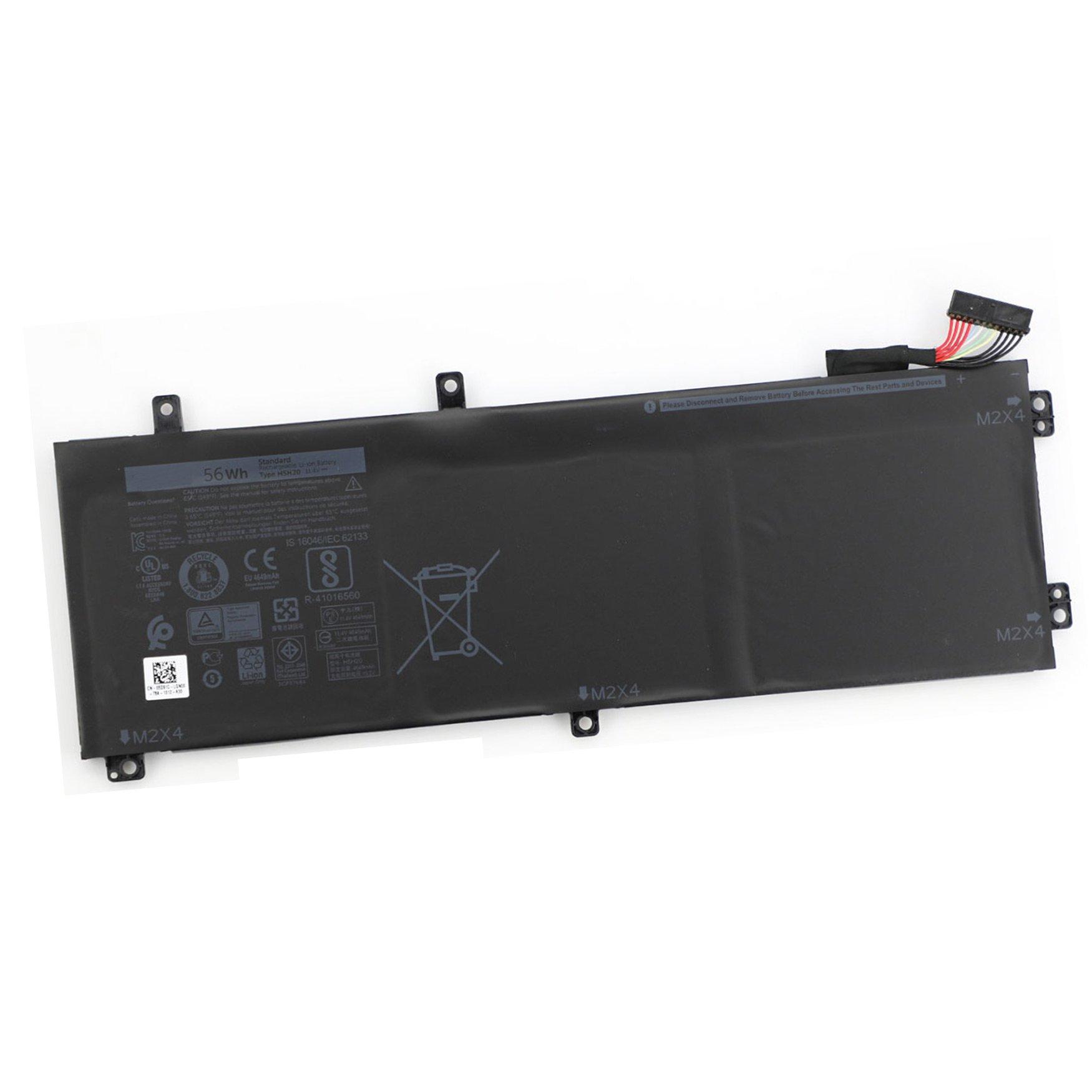 Dentsing H5H20 battery for Dell XPS 15 9560 Precision 5520 56WHR 62MJV M7R96