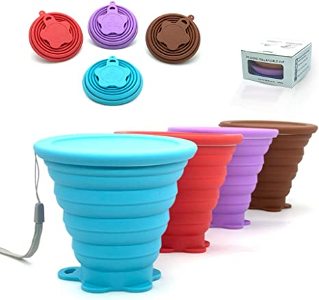 Silicone Folding Camping Cup Travel Cup Silicone Folding Portable Camping Cup Collapsible Portable Folding Cup Eco Friendly Cup