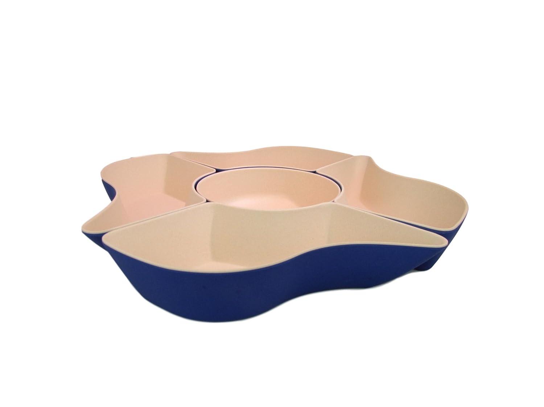 Sapphire Bamboozle Petal 5-Piece Customizable Serving Dish Method Sourcing BZ4301PSS