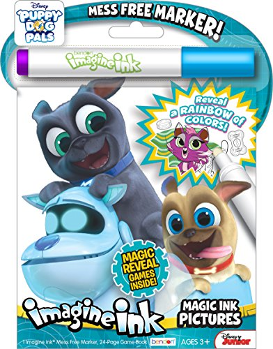 Bendon 42317 Puppy Dog Pals 24-Page Imagine Magic Ink Pictures