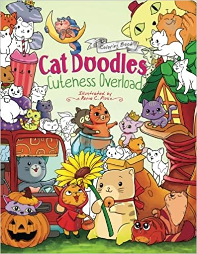 Cat Doodles Cuteness Overload Coloring Book For Adults And Kids A Cute Fun Animal All Ages Julia Rivers Storytroll 9781979083867