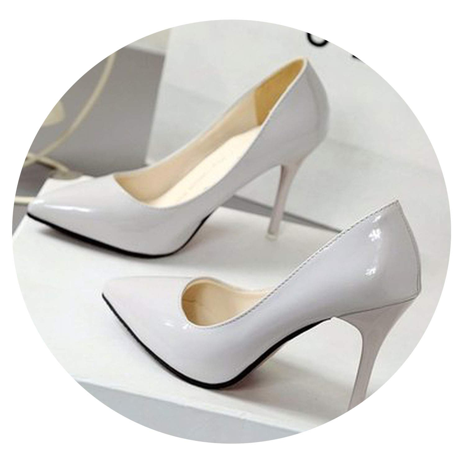 2019 HOT Women Shoes Pointed Toe Pumps Patent Leather Dress High Heels Boat Shoes Wedding Shoes