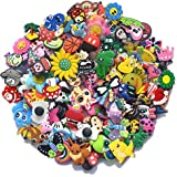 5Star-TD Lot of 100 Pcs Different Random Charms for Croc Shoes & Jibbitz Bands Bracelet Wristband