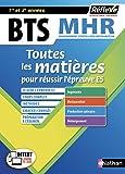 BTS MHR - Management en Hôtellerie Restauration - 1ère et 2e année - Toutes les matières - 2019 (19)