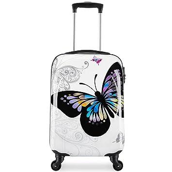 85ae6d3037 Valise cabine 55cm bagage a main femme enfant avions low cost 4 roues  Papillon léger 40