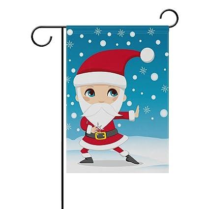 Amazon.com : Sunlome Santa Claus Ninja Home Garden Flag ...