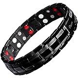 ブレスレットメンズ ゲルマニウムブレスレット 42粒 ブラック Ebuty 純チタン製 磁気 マグネット 腕輪 ジュエリー アクセサリーメンズ 抗疲労 健康 サイズ調整可能 【ギフトボックスが付属】