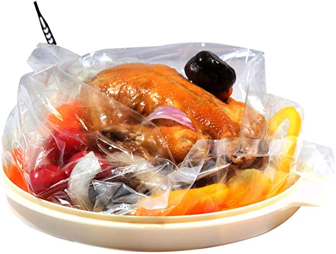 Ebelbo Oven Turkey Cooking Bags 25 Pack Roasting Bags For Home Kitchen Food-Large Size
