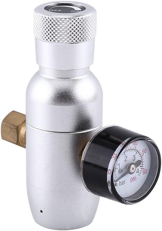 Yosoo Regulador CO2 Kit Cargador de 0-60 PSI Gas & Keg Desconectar para Proyecto de Homebrew Cerveza Soda kegerator 12/16 / 25g del Cilindro de CO2 (Size : 1#)
