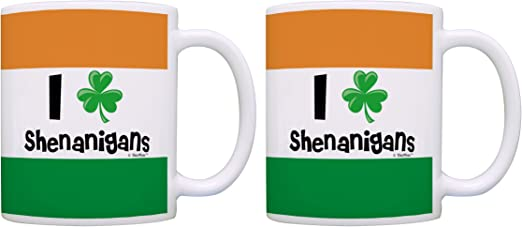 Ireland Funny I/'m Irish What/'s Your Superpower Flag Travel Mug Cup With Handle