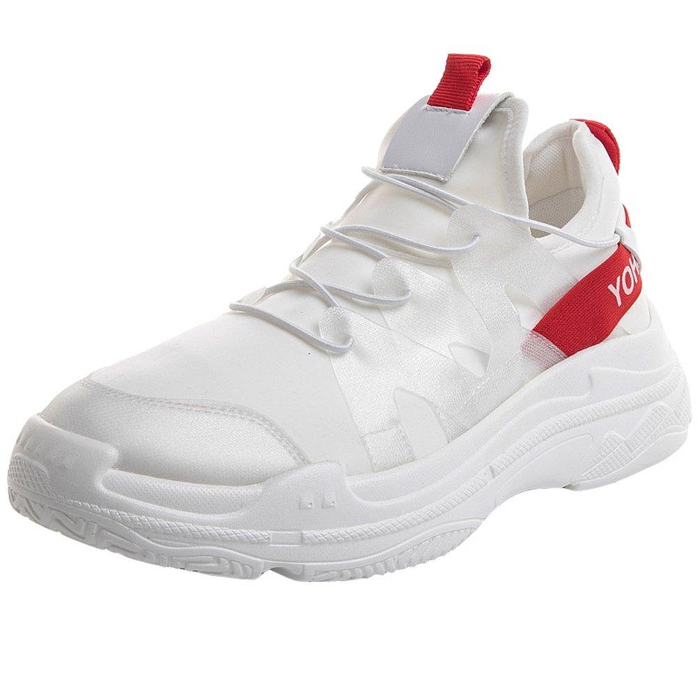 Wenzhihua - Zapatillas para Correr en montaña de Papel para Hombre 4.5 UK|Blanco