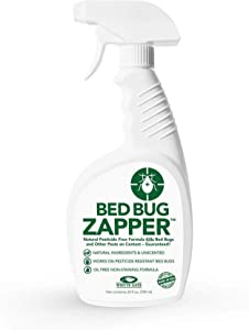 Whyte Gate Bed Bug Zapper, Flea and Mite Spray with Natural Ingredients, Odorless and Non-Staining, Natural Flea Killer Spray, Dust Mite and Lice Bed Spray for Home, 24 Oz