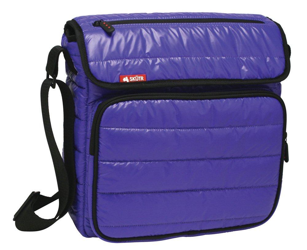 Skutr 8.5x11'' Messenger + Tablet Puffy Jacket Nylon Bag, Blue by SKTR