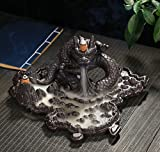Large Dragon Incense Burner Stick Incense Backflow Censer Ash Catcher Home Office Fengshui Ornament Home Tea Decor Aromatherapy Disc