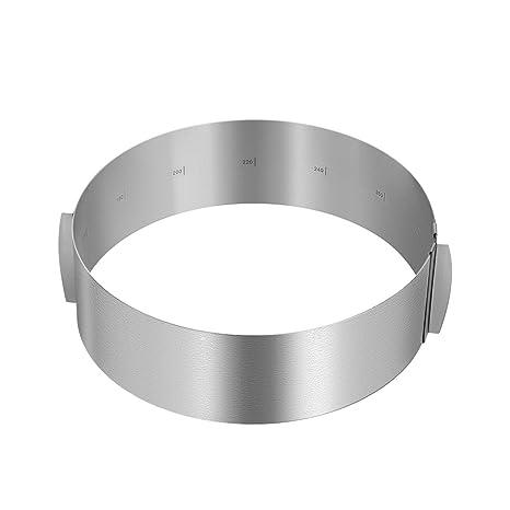Springform /Ø 18 cm,Antihaftbeschichtung runde Backform mit Tortenring verstellbar aus Edelstahl mit Skalierung