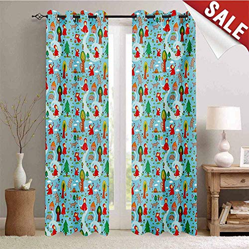 Hengshu Fantasy Customized Curtains Red Riding Hood Tale