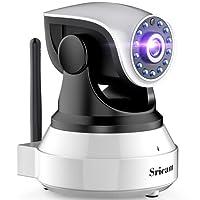 IP cámara WiFi LESHP camaras de Vigilancia inalámbrico HD Zoom P2P IR Vision nocturna con Micrófono y altavoz, APP Sricam, Detección de movimiento, Seguridad para casa, compatible con iOS, Android