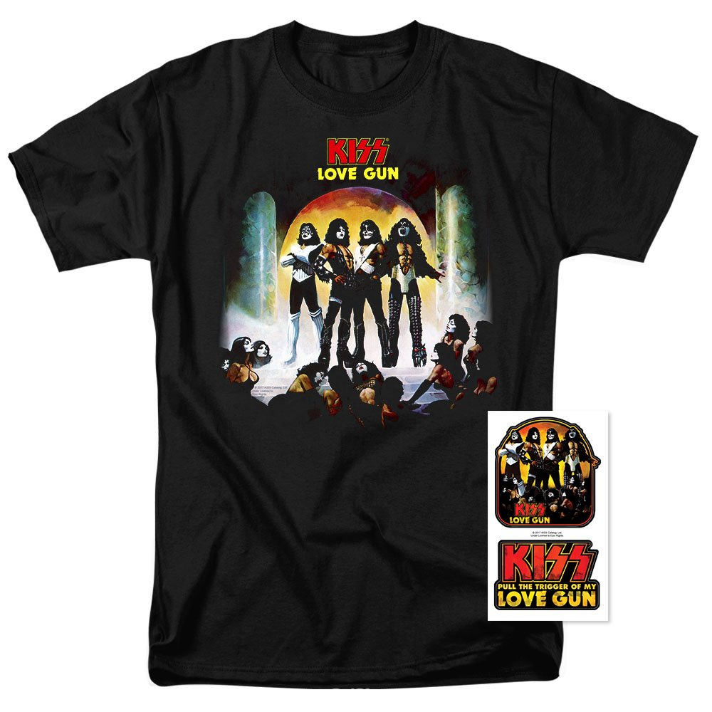 KISS Love Gun Gene Simmons Rock Band T Shirt (XX-Large)