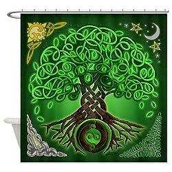 CafePress Circle Celtic Tree of Life Shower Curtain