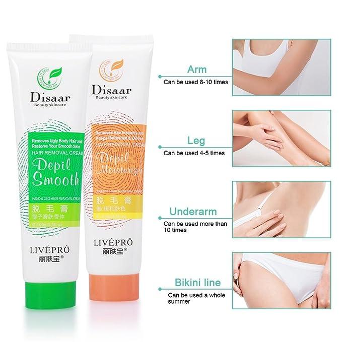 Depilacion Crema Depilatorias limpieza del cabello Emulsión de esencia depilar para cuerpo(#2): Amazon.es: Salud y cuidado personal