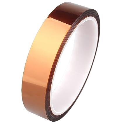 20 mm 33 M/100 ft alta temperatura de calor de poliimida resistente adhesivo dorado