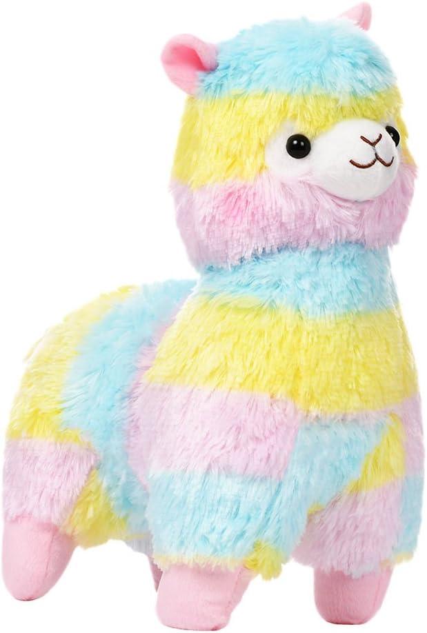 OuYou Rainbow Alpaca Doll Bebé Suave Juguete de Peluche Muñeco de Varios tamaños para niños niñas (1A)