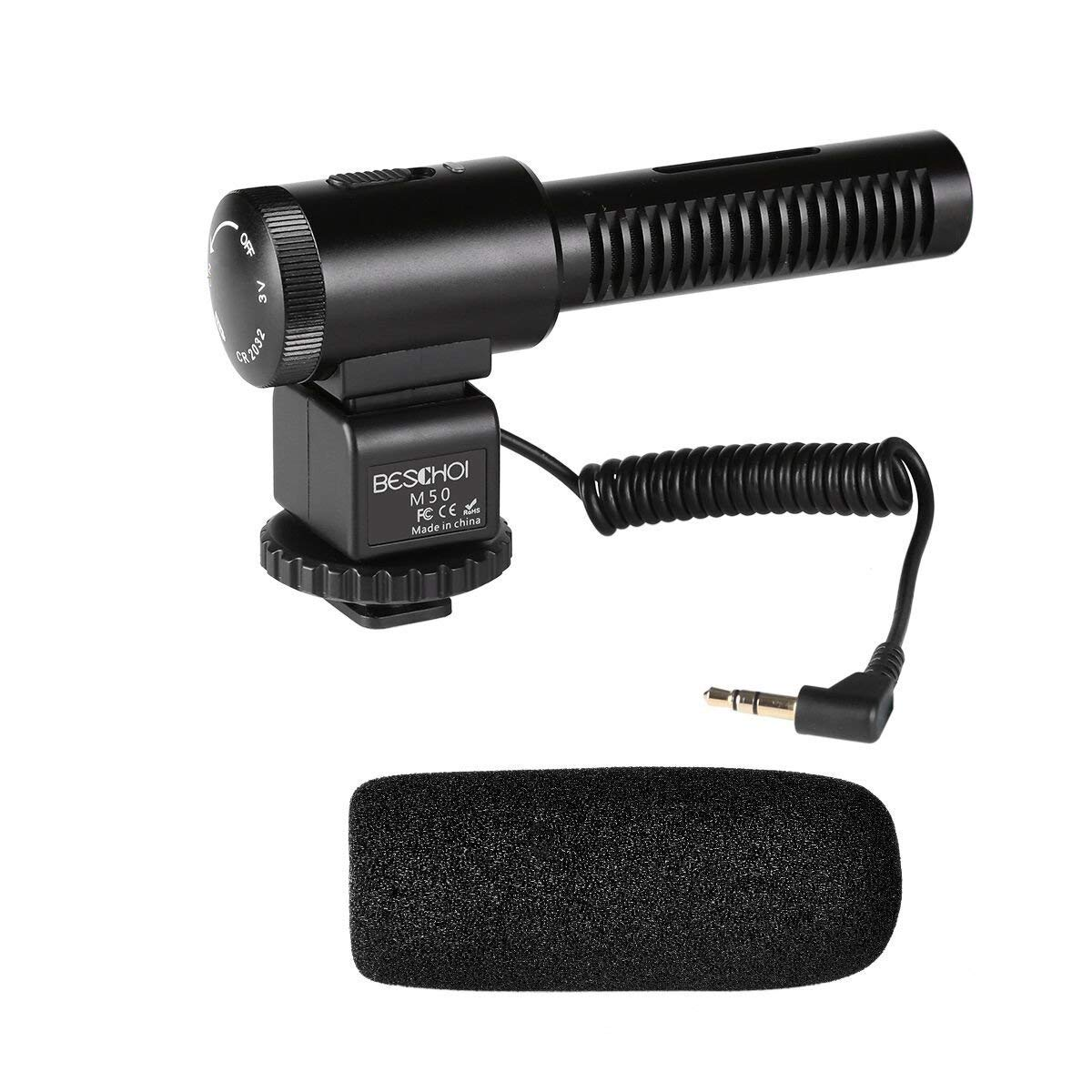 Shotgun Camera Microphone, Beschoi Professional Photography Interview Mic Recording for for Nikon/Canon Camera/DV Camcorder (Need 3.5mm Interface) by Beschoi