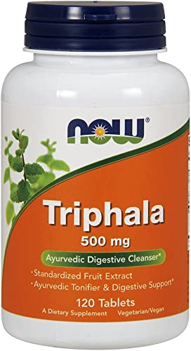 NOW Supplements, Triphala 500 mg, Combination of Harada, Amla and Behada, 120 Tablets