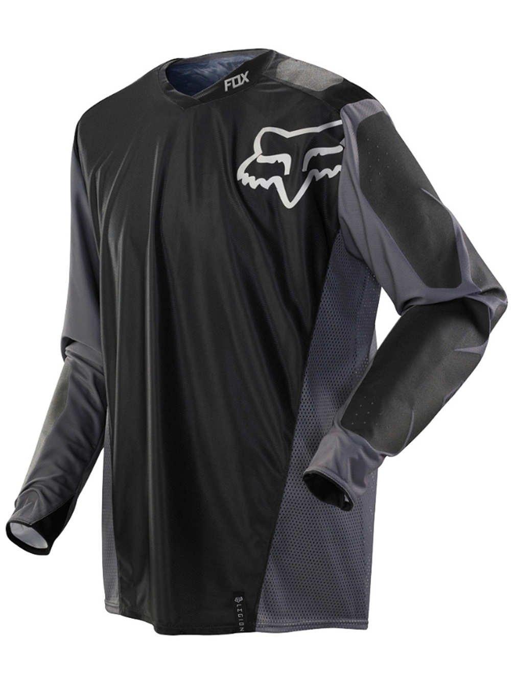 Fox Racing Legion Offroad Men's MX Motorcycle Jerseys - Black/Grey/Small