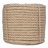 100 Feet 2/5-Inch Natural Jute Twine Hemp String Christmas Twine String Packing Materials Durable Hemp Twine for Gardening