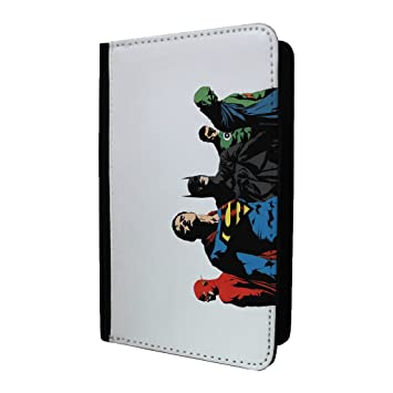 DC Liga de la justicia superhéroes Passport Holder Case Cover - st-t1591: Amazon.es: Electrónica