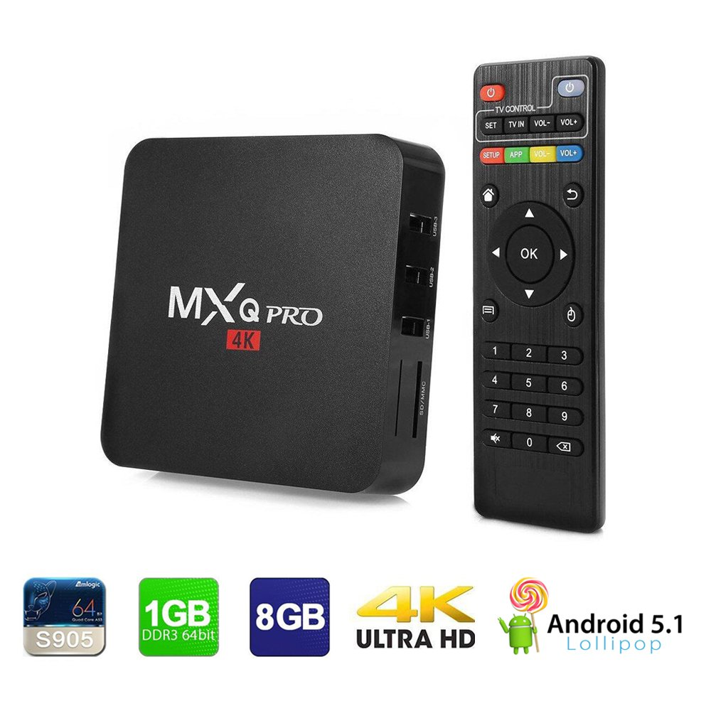 4K MXQ Pro Smart TV Box