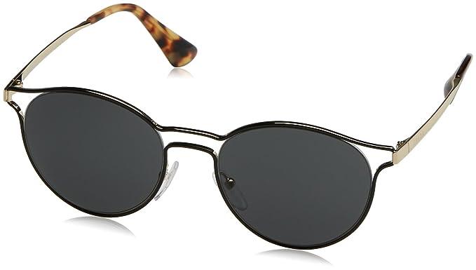 68449fffb176 Prada Women's 0Pr62Ss 1Ab5S0 53 Sunglasses, Black/Pale Gold/Grey ...