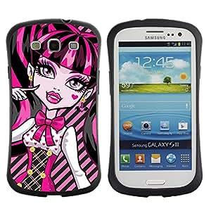 Suave TPU GEL Carcasa Funda Silicona Blando Estuche Caso de protección (para) Samsung Galaxy S3 I9300 / CECELL Phone case / / Pink Neon Schoolgirl Doll Face Big Eyes /