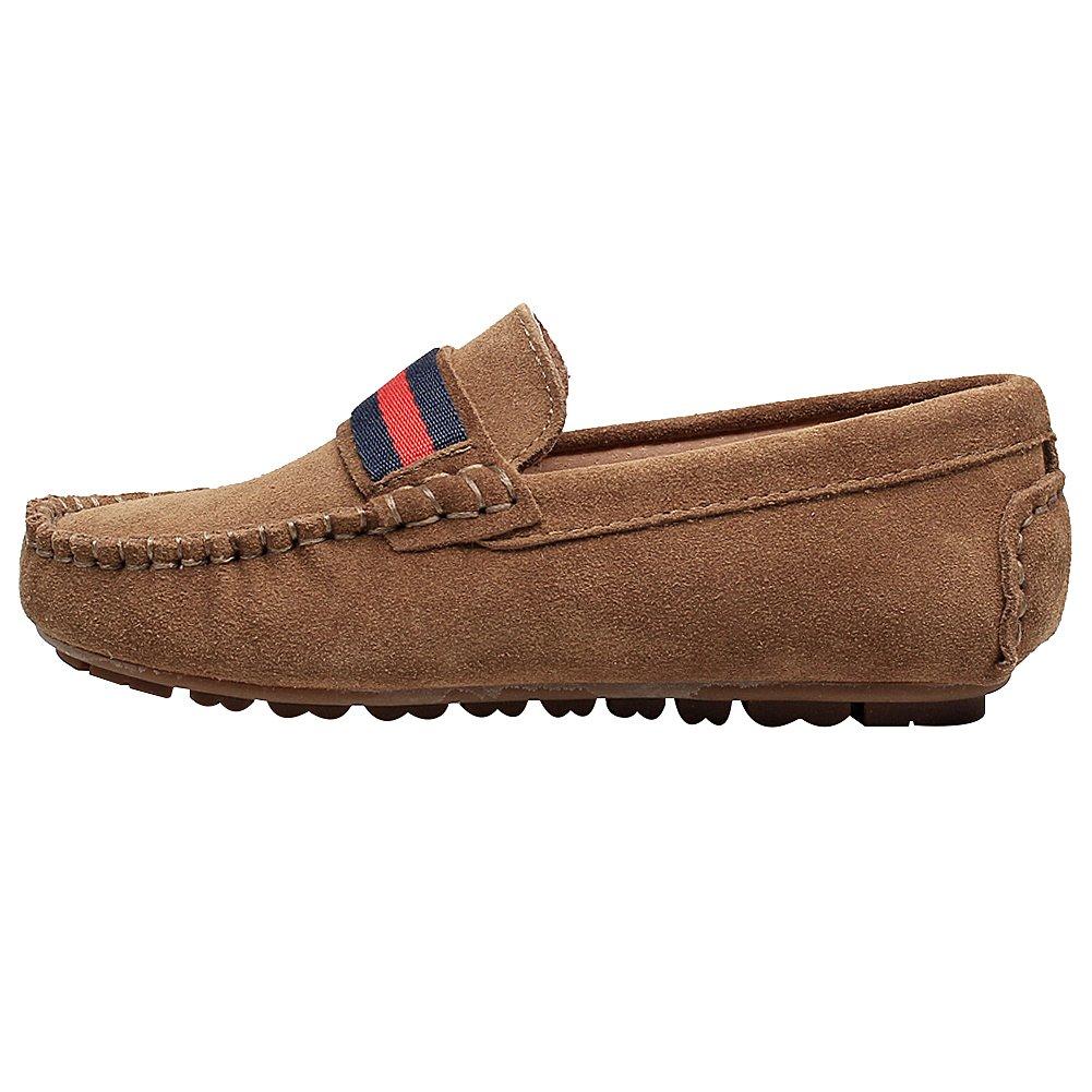 Rismart Niñas Ponerse Comodidad Vestido Informal Ante Cuero Mocasines Zapatos: Amazon.es: Zapatos y complementos