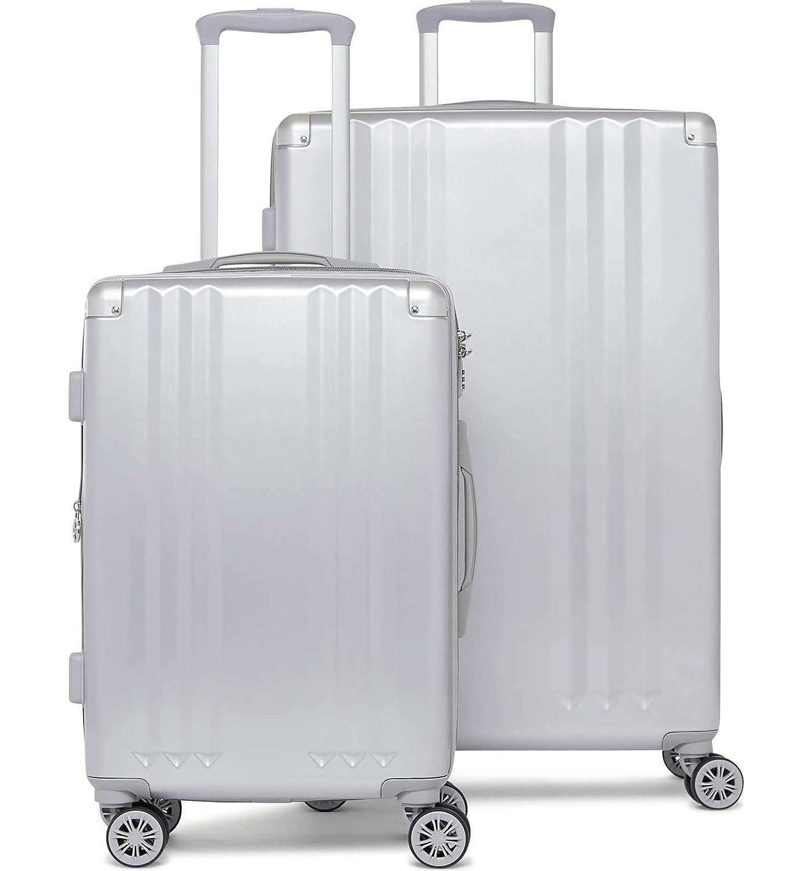 [カルパック] Ambeur 2ピーススピナーラゲッジセット CALPAK Ambeur 2-Piece Spinner Luggage Set [並行輸入品] (Silver, One Size) B07SMZR6S9 Silver One Size