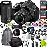 Nikon D5300 DSLR Camera (Body Only, Black) with Nikon 18-55mm f/3.5-5.6G Lens and Nikon 70-300mm Lens 2 Lenses Kit