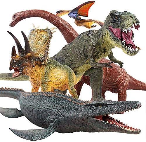 Jaysompro 5 PCS Jumbo Dinosaur Set -Realistic...