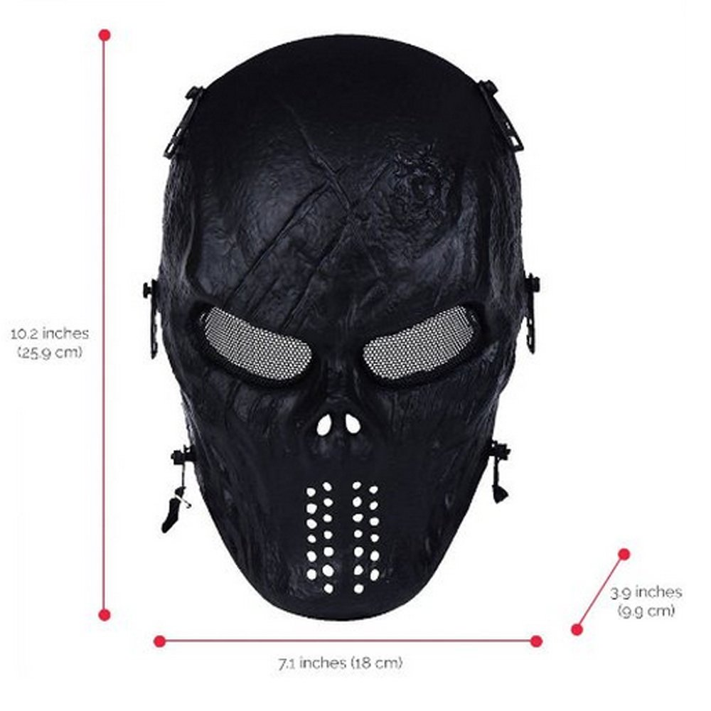 Amazon.com : Walking Man Full Face Airsoft Mask with Metal Mesh ...
