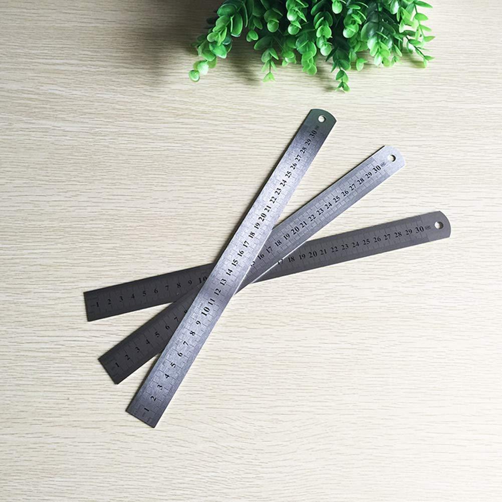 BESTOYARD R/ègle en Acier Inoxydable pour Dessin ding/énierie 3Pcs 20cm 30cm 40cm