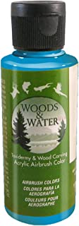 product image for Badger Air-Brush Co. 4-Ounce Woods and Water Airbrush Ready Water Based Acrylic Paint, Teal Blue