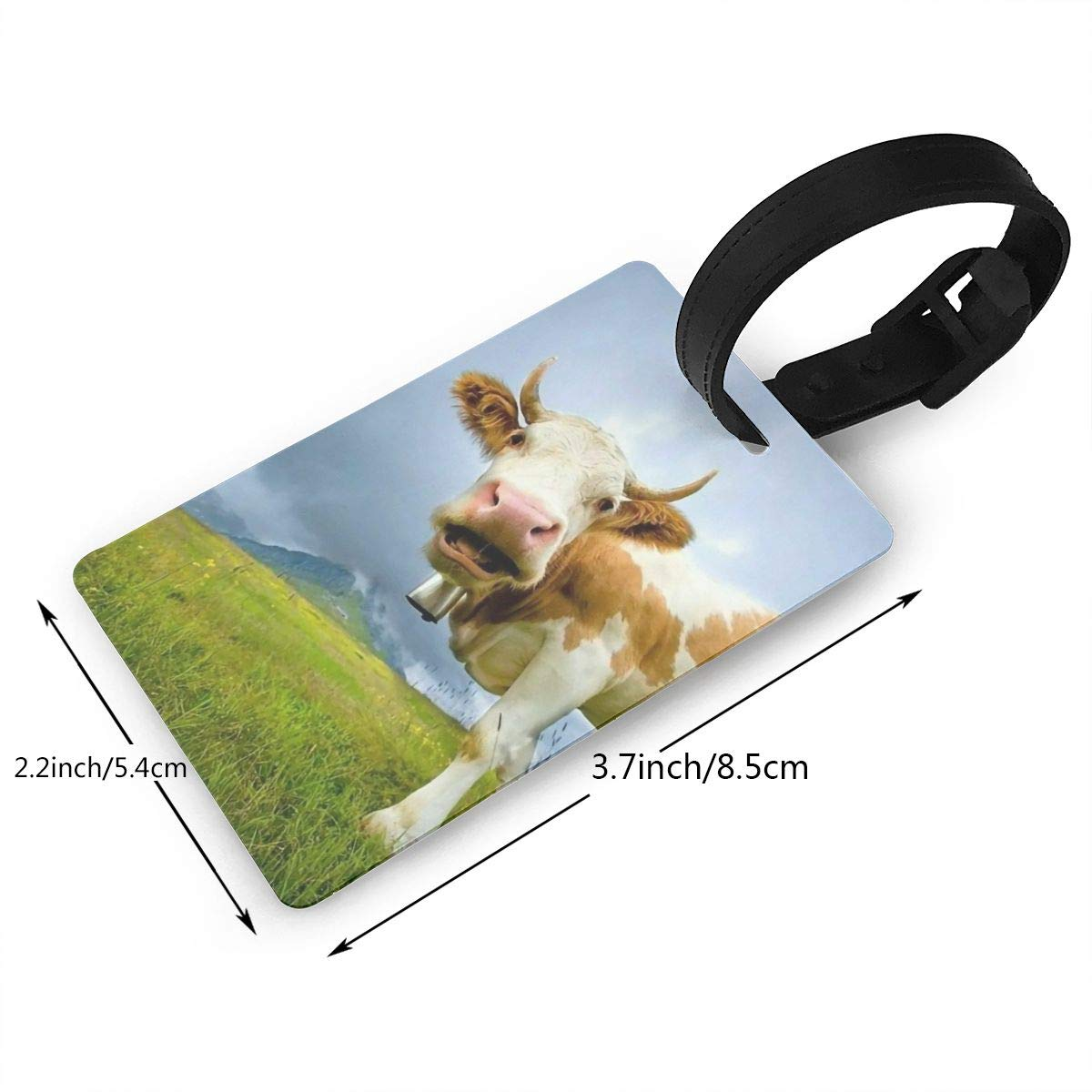 2 Pack Luggage Tags Cow Cruise Luggage Tag For Suitcase Bag Accessories