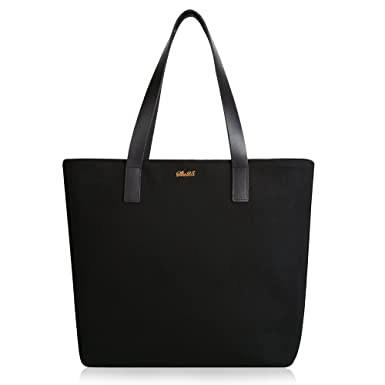 Amazon.com | Women Work Tote Bag Basic Spacious Light Weight Tote ...