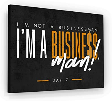 Amazon Com Jay Z Business Entrepreneur Quotes Wall Art Canvas Print Office Decor Motivational Quotes Motivation Success Businessman Art Hustle Quote Inspirational 18 X 24 Posters Prints