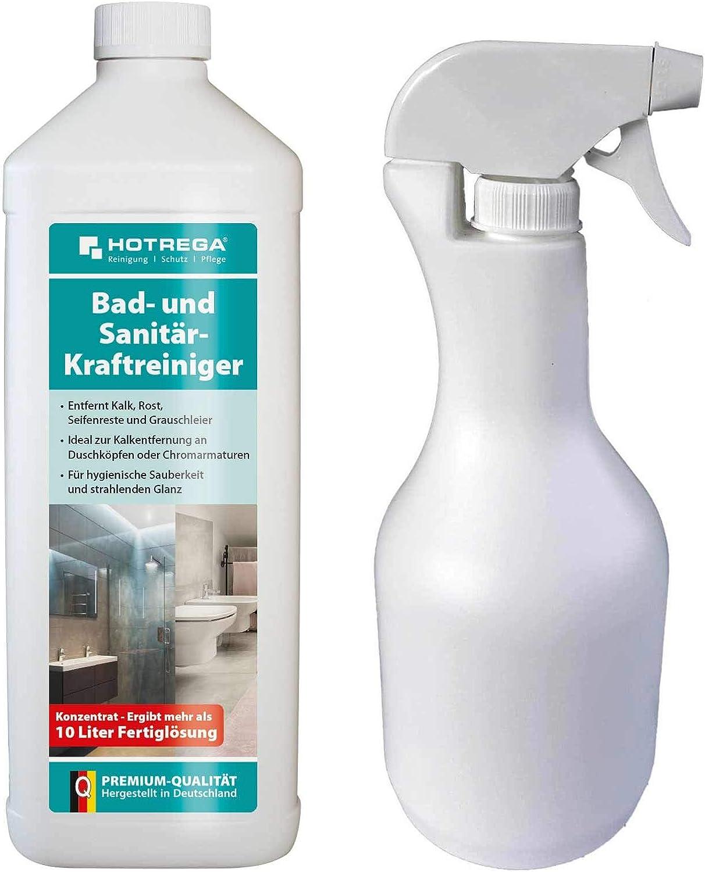 Hotrega - Limpiador de baño y sanitario, 1 L de concentrado + ...