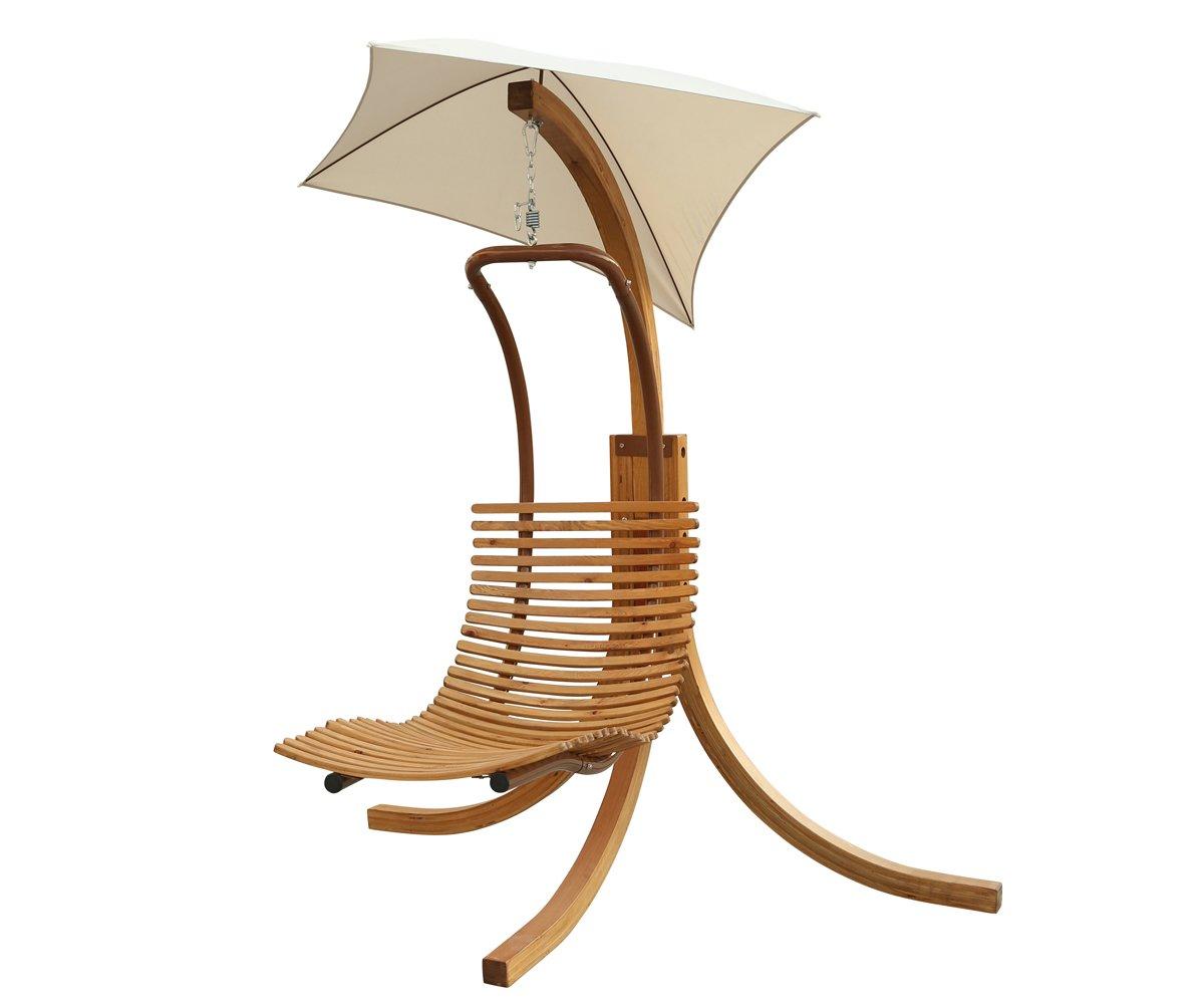 Amazon.com : Leisure Season SLU135 Swing Lounge Chair With Umbrella :  Garden U0026 Outdoor