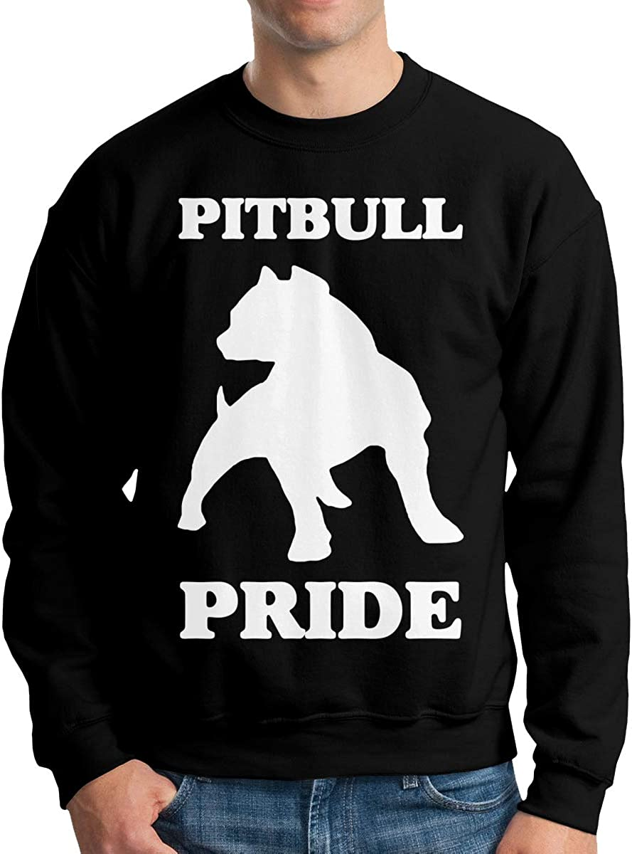 LLiYing-D Pitbull Pride Adult Mens Fashion Long Sleeve Hoodie T Shirts