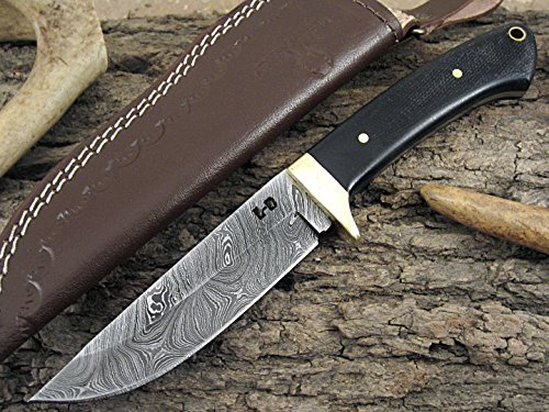 Huge Sale by Leather-n-Dagger | Custom Handmade Damascus Steel Hunting Knife LD502-2