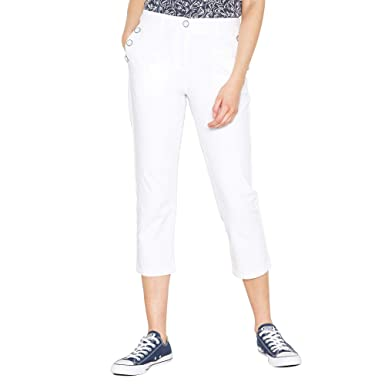 100% top quality 100% quality official photos Maine New England Womens White Cropped Sailor Trousers 26: Maine ...